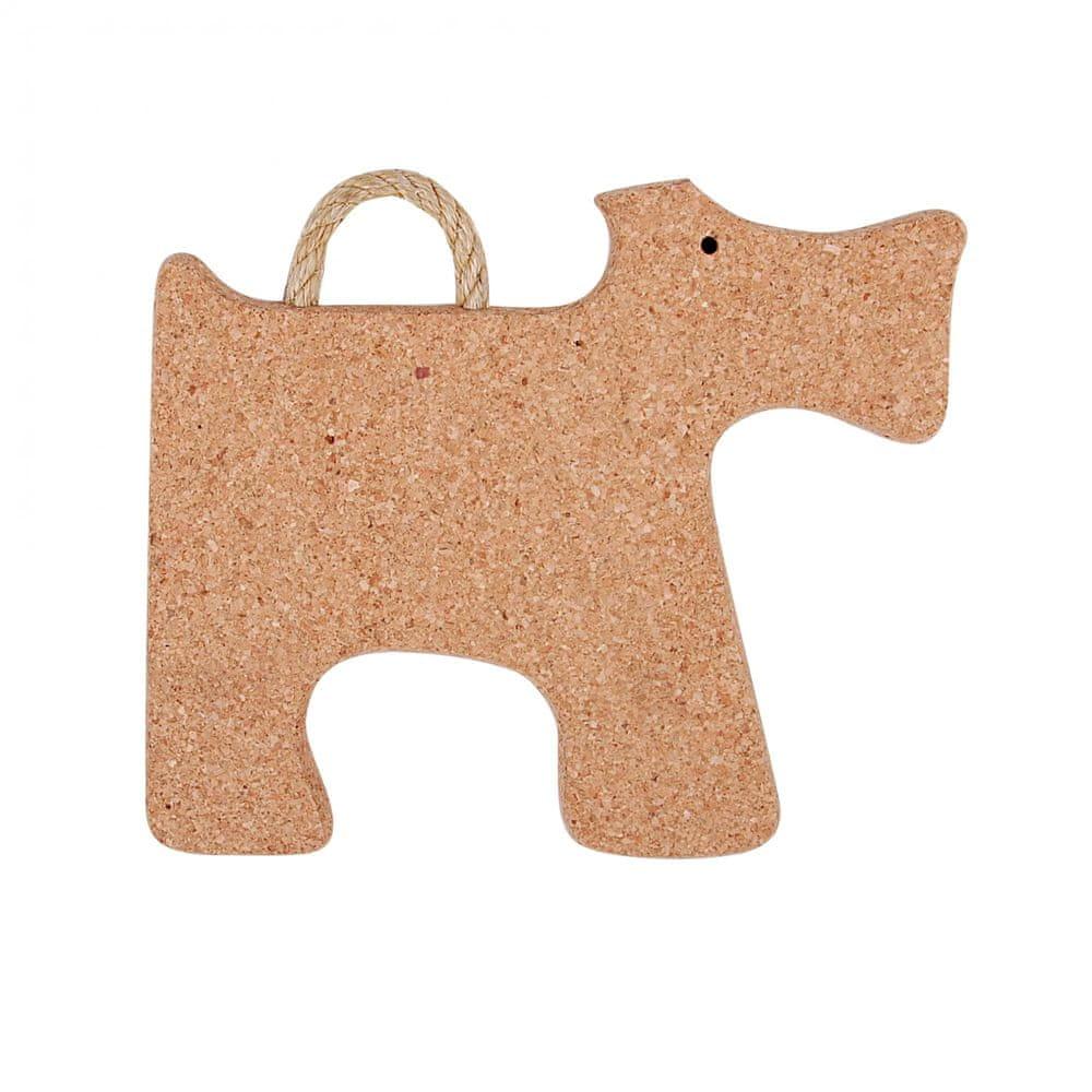 Toro Podložka tvar pes, korek, 28x26x2 cm