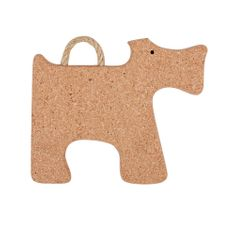 TORO Podložka tvar pes, korok, 28x26x2 cm