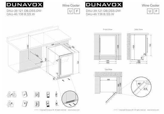 Dunavox DAUF-39.121DB podpultna vinska vitrina