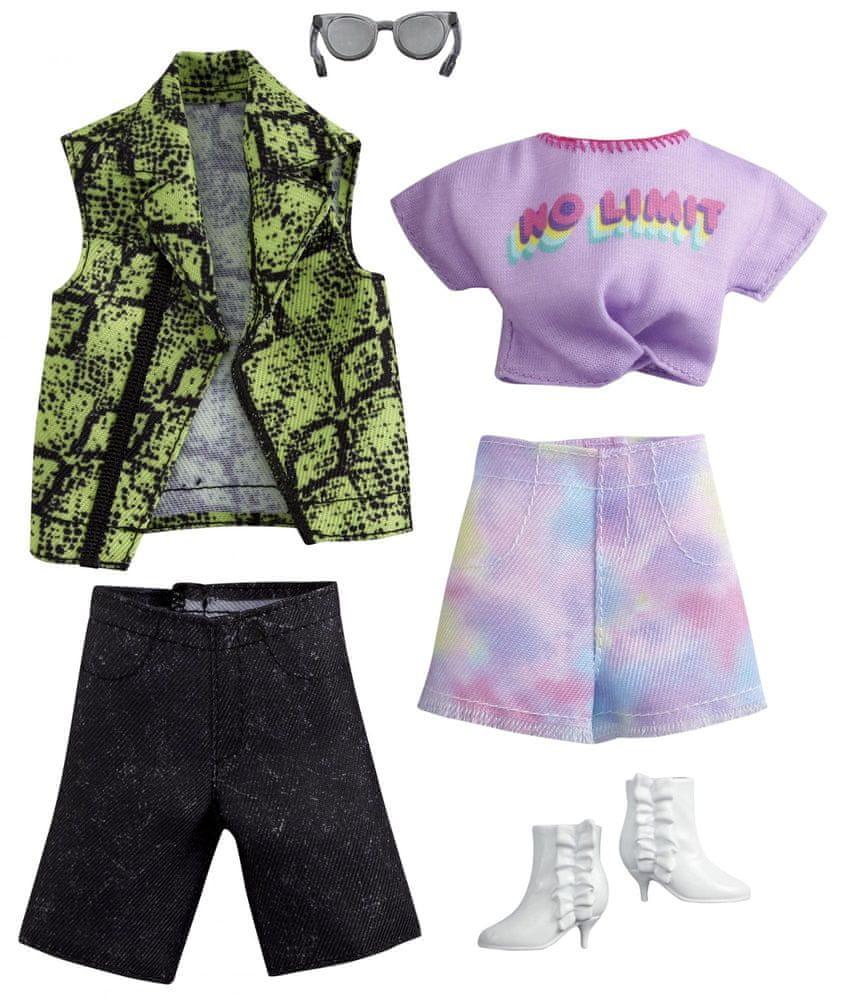 Mattel Barbie a Ken Fashion oblečky 2 ks Rock