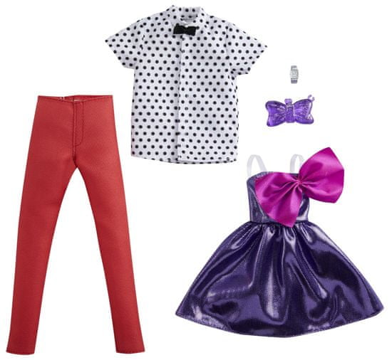 Mattel Barbie in Ken Fashion Glam oblačila, 2 kosa