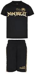 LEGO Wear chlapecký set trička a kraťasů Ninjago LW-12010228 104 černá