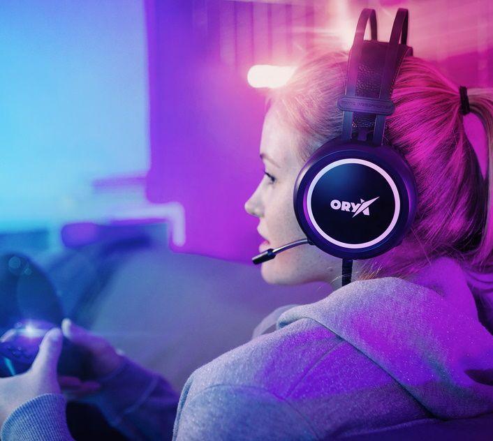 Slúchadlá Niceboy ORYX X210 Donuts (oryx-x210-donuts), 50mm meniče, headset, pohodlné, sklápací mikrofón, otočné náušníky