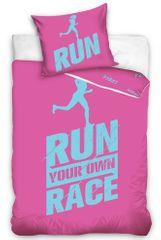 Tip Trade Perkálové povlečení Run Race růžové