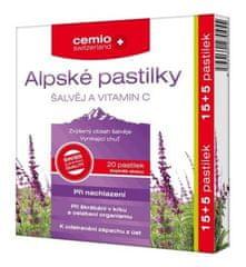 Cemio Cemio Alpské pastil.ŠALVĚJ+VIT.C 15+5