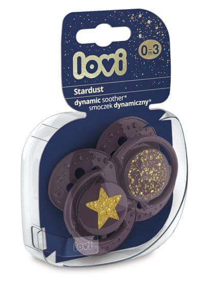 LOVI smoczek dynamiczny silikonowy Stardust 0-3 mies. 2 szt.