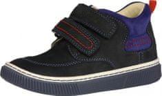 Szamos Fiú bőr magasszárú cipő 1585-20053, 25, fekete