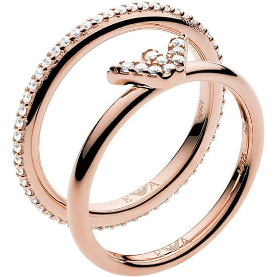 Emporio Armani Moderní dvojitý ocelový prsten EG3462221