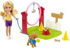 Mattel Barbie Chelsea z igralnim kompletom z dodatki Trener za pse