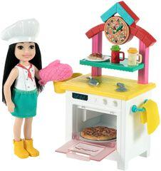 Mattel Barbie Chelsea z dodatki igralni set Picerija