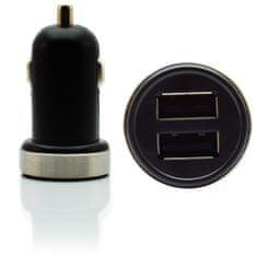 Pama avtopolnilec, dvojni USB, 2,1 A, črn