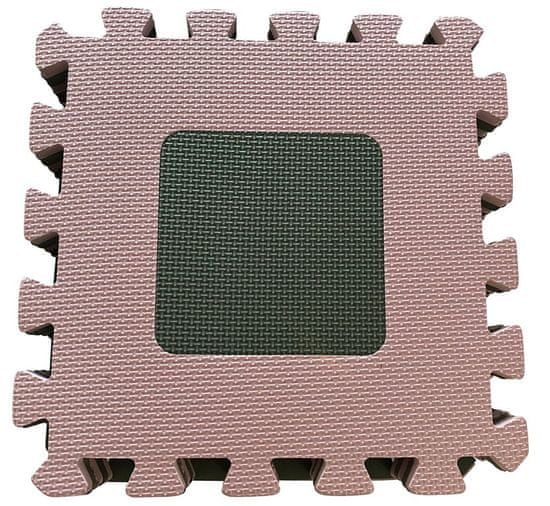 BabyDan Geometriai alakzatok puzzle játszó alátét, 90x90 cm