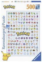 Ravensburger sestavljanka 147816 Prvih 151 Pokemonov, 500 kosov