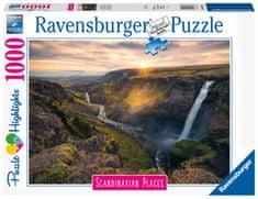 Ravensburger Puzzle 167388 Skandinávie Vodopád Haifoss, Island 1000 dílků