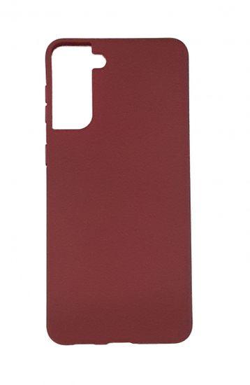 Ovitek za Samsung Galaxy S21 Plus, silikonski, mat bordo