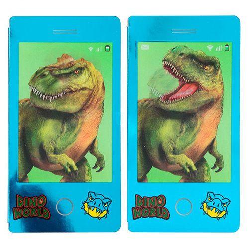 Dino World Pobarvanka | Mini blok s 3D učinkom , Modri blok - T-rex