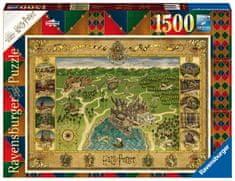 Ravensburger sestavljanka Zemljevid Hogwartsa 165995, 1500 kosov