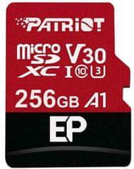 Patriot microSDXC 256GB V30 A1 Class 10 U3 + adaptér (PEF256GEP31MCX)