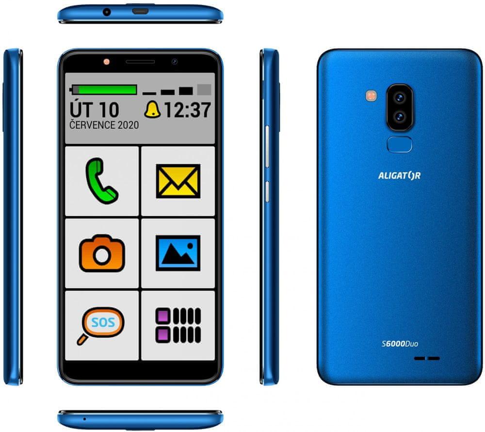 Aligator S6000 Senior, 1GB/16GB, Blue