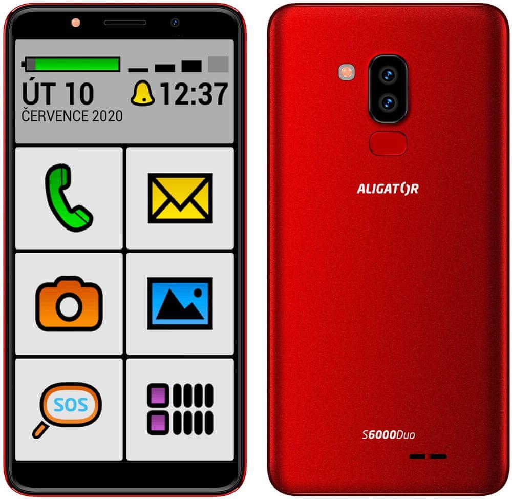 Aligator S6000 Senior, 1GB/16GB, Red