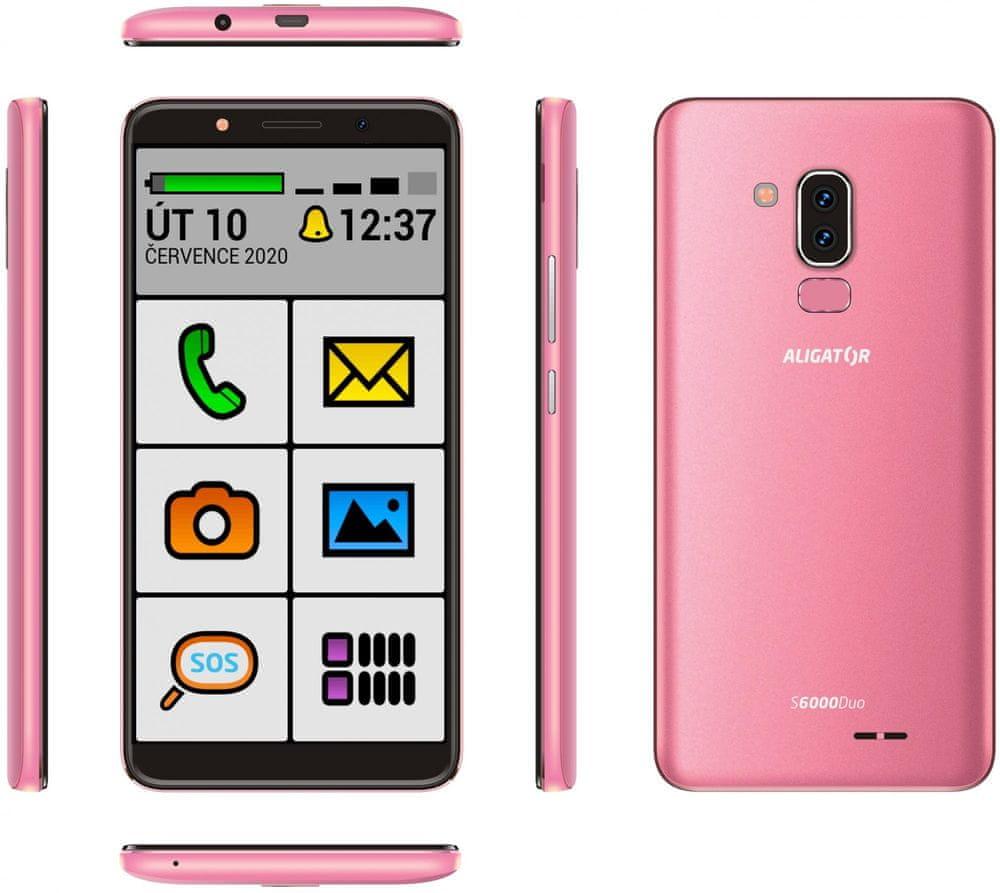 Aligator S6000 Senior, 1GB/16GB, Pink