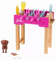 Mattel Barbie Mini játék szett kisállattal és asztali focival