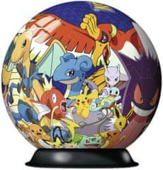 Ravensburger 3D Puzzle 117857 Puzzlo-piłka Pokemon 72 elementy