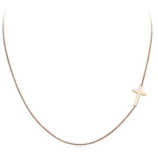 Amen Różowe złocone Srebrny Módl się naszyjnik Love CLCR3 srebro 925/1000