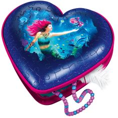 Ravensburger 3D Puzzle 112494 srce Morska deklica, 54 delov