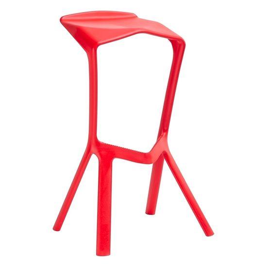 shumee Barski stol MIURA PREMIUM rdeč - polipropilen