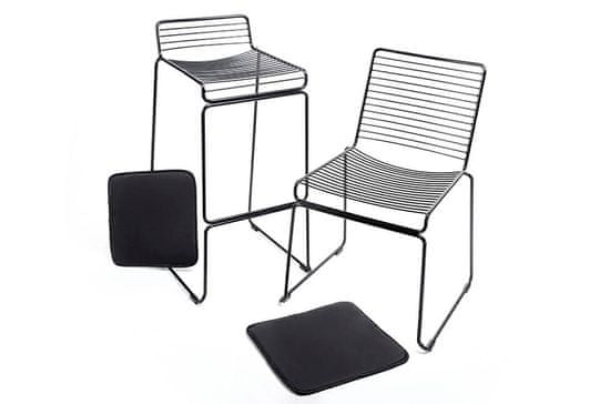 shumee Barski stol ROD SOFT črno - črna blazina, kovinska
