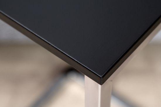 shumee INVICTA stolik SIMPLY czarny - podstawa chromowana