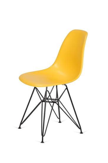 shumee Krzesło DSR BLACK kanarkowy.30 - podstawa metalowa czarna