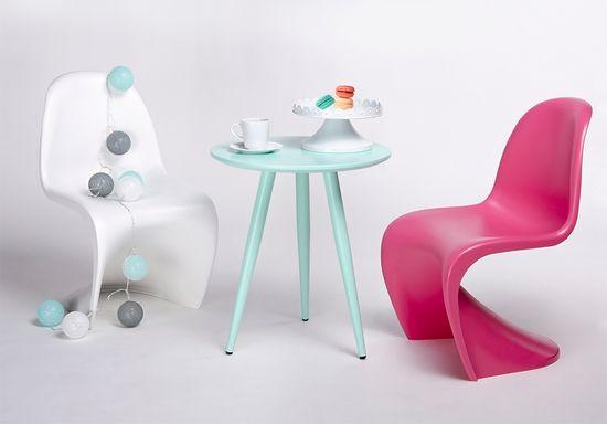 shumee Krzesło dziecięce HOVER JUNIOR różowe - polipropylen