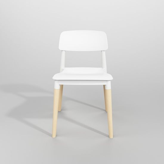 shumee Krzesło ECCO PREMIUM białe - polipropylen, buk