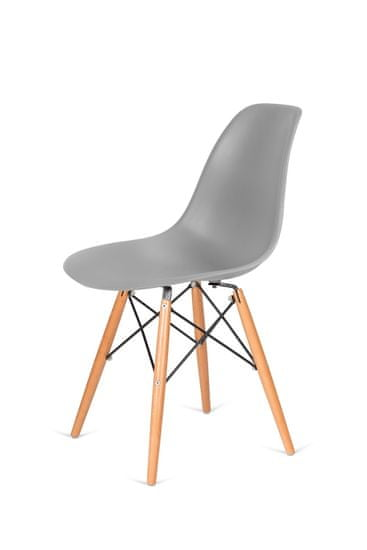 shumee Krzesło DSW WOOD szare.30 - podstawa drewniana bukowa