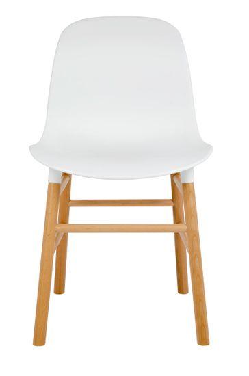 shumee IKAR bel stol - polipropilen, bukov les