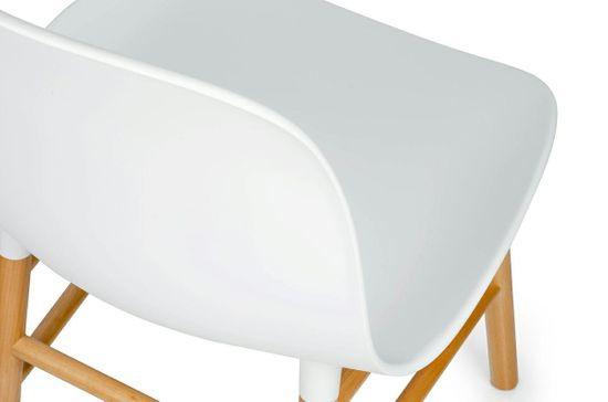 shumee Krzesło IKAR białe - polipropylen, drewno bukowe