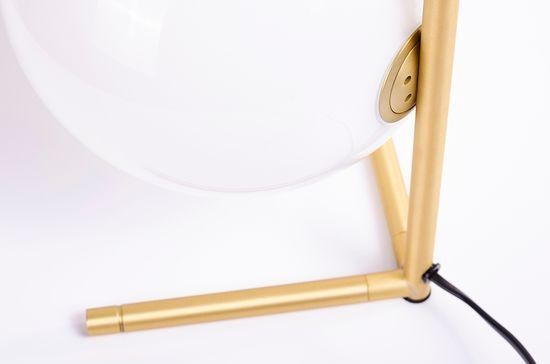 shumee Lampa biurkowa HALM 1 - mosiądz, szkło