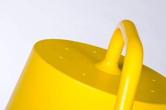 shumee Lampa podłogowa FLAMING żółta