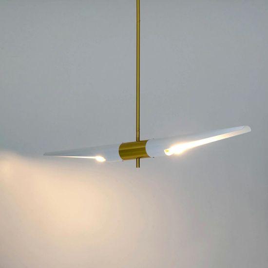 shumee Viseča svetilka APOLLO 1 belo - brušeno zlato