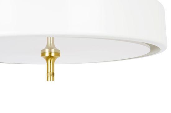 shumee Viseča svetilka ARTE MOVE bela - aluminij, kovina