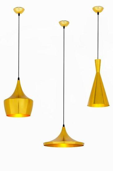 shumee Viseča svetilka BET SHADE WIDE zlato - zlato sredina