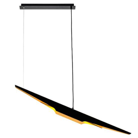 shumee Viseča svetilka FENIX črna - zlata - aluminij