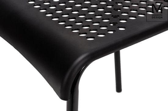 shumee MODESTO krzesło DAVIS czarne - polipropylen, metal