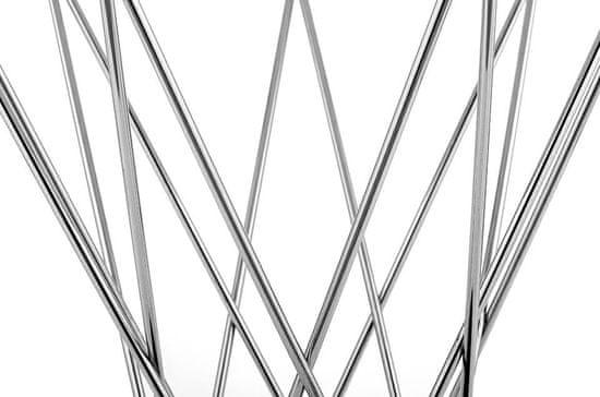 shumee Stół TWIST 80 biały - MDF, chrom