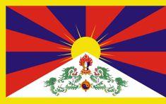 Vlajky.EU Vlajka Tibet vlajka - 30 x 45 cm - tunel