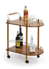 Halmar Bar-4 servírovací stolík na kolieskach buk