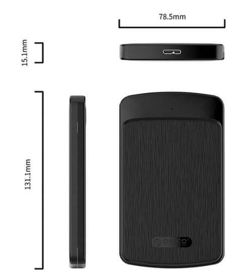 Orico 2020U3 zunanje ohišje za HDD/SSD, USB 3.0, črno