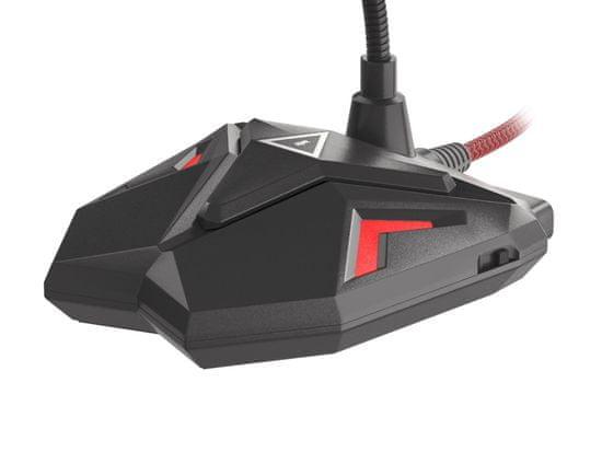 Genesis Radium 100, namizni mikrofon, za gaming ali spletno komunikacijo, nastavljiv, LED osvetlitev